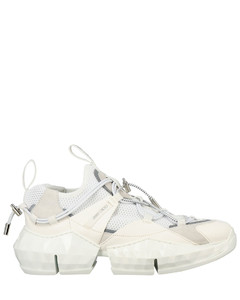 Diamond Trail / F sneakers in stretch mesh and leather