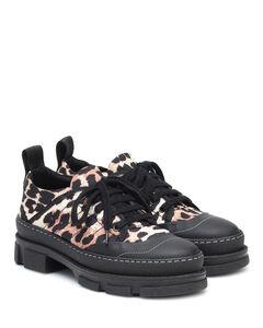 豹纹尼龙运动鞋