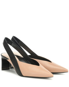 Amira slingback leather pumps