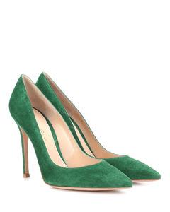 Gianvito 105绒面革高跟鞋