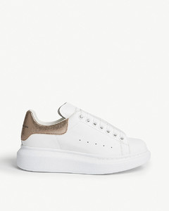 Oversized leather trainers