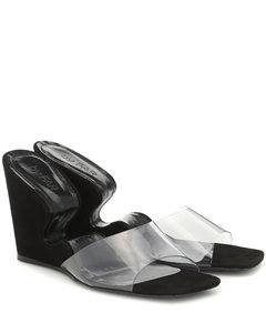 Greta PVC材质和皮革凉鞋