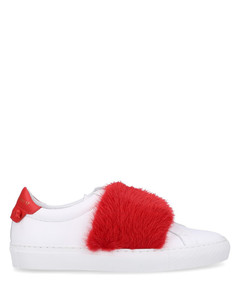 Low-Top Sneakers URBAN STREET calfskin red white