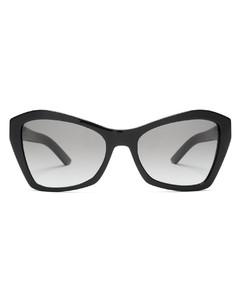 Angular cat-eye acetate sunglasses