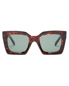 Square tortoiseshell-acetate sunglasses