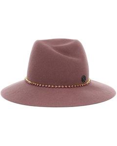 Virginie缀饰羊毛绅士帽