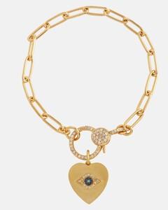 Crystal-embellished chain-link bracelet