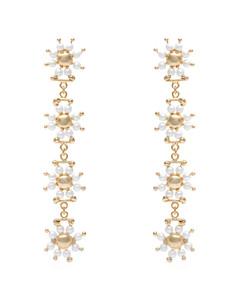 Daisy faux-pearl earrings