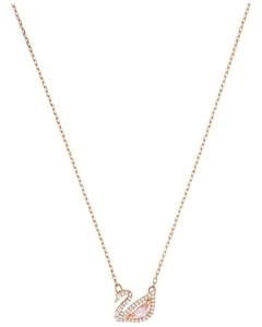 施华洛世奇DazzlingSwan -项链 彩色设计 镀玫瑰金色