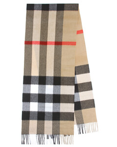 Mega Check羊绒围巾