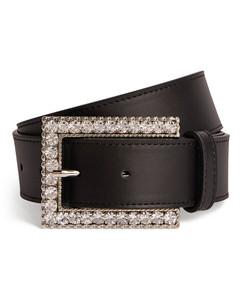 Belt with Rectangular Crystal Buckle