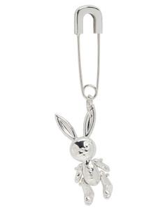 SSENSE发售银色Inflated Bunny耳坠