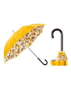 Pasotti葩莎帝黄色花纹双层布料手工伞