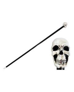 Pasotti葩莎帝银色骷髅头手柄手杖