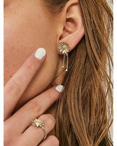 Mini Daisy Crystal Drop Earring