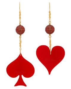 红色&金色Spade & Heart耳坠