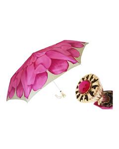 Women Pink Dahlia Folding Umbrella
