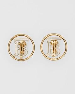 Gold-plated Monogram Motif Earrings