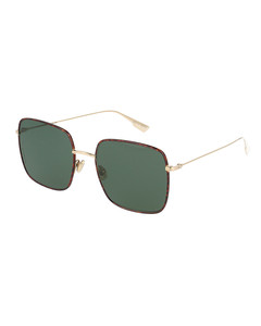 Stellaire1 havana squared sunglasses