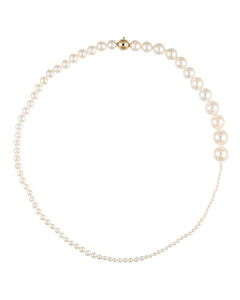 Peggy Collier 14kt gold and pearl necklace