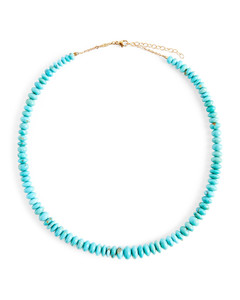 Set-Color Dot Seed And Color Daisy Necklace
