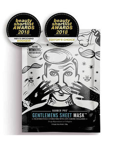 Gentlemen's Sheet Mask Rejuvenating and Hydrating with Anti-Ageing Collagen