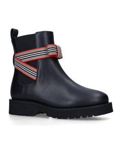 条纹混棉针织毛衣