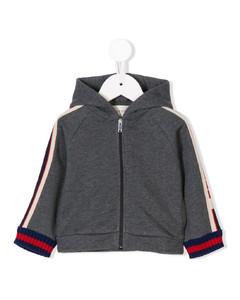full-zipped hooded jacket