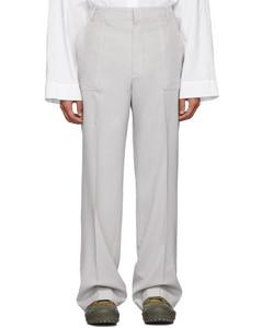 灰色Le Pantalon Moulin长裤
