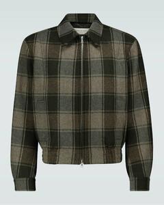 格纹羊毛夹克