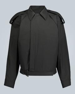 配腰带高科技涂层夹克