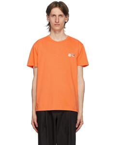橙色Double Fox Head Patch T恤