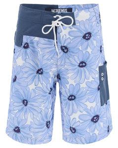 Swimsuits Jacquemus for Men Print Blue Flowers