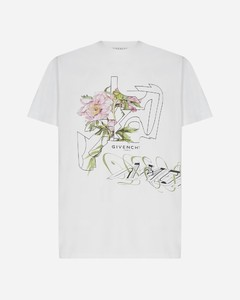 Logo and floral print cotton t-shirt