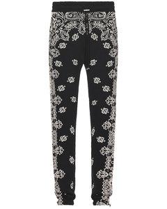 Mania logo印花直筒牛仔裤