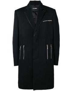 zipped formal coat