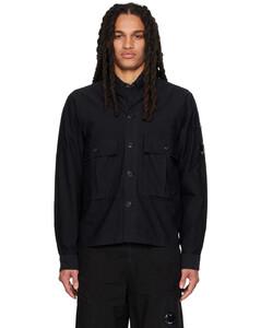 黑色褶裥长裤