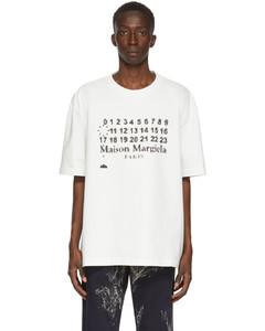 白色Logotype大廓形T恤