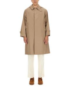 Crewneck sweater with nylon pocket