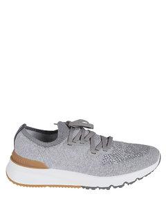 厚底真皮运动鞋