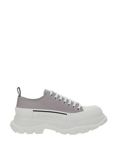 Crossection techno fabric slip-on sneakers