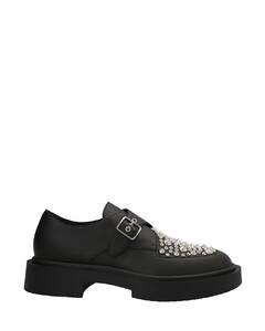 Pericle马衔扣镶嵌皮质平底鞋