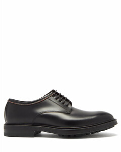 Rutford Signature stripe piped leather derby shoes