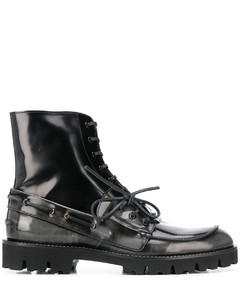 Spliced ankle boots