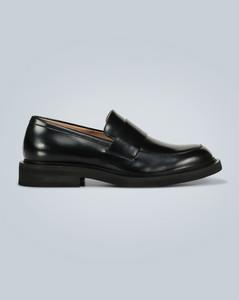 橡胶底皮革乐福鞋