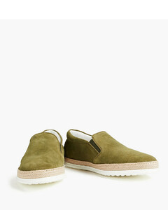 Timael leather and ripstop trainers