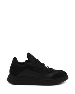 Backless leather slippers