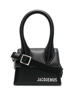 Men's leather clutch bag in black