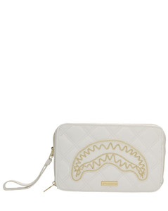 City crocodile-effect leather backpack