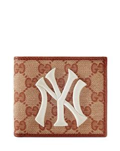 Original GG New York Yankees™贴花帆布钱包
